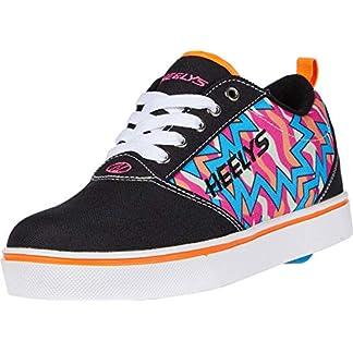 Heelys Girl's Pro 20 Prints (Little Kid/Big Kid/Adult) Black/Pink/Orange/Cyan 7 Women's
