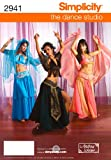 Simplicity the Dance Studio Andrea Schewe Pattern 2941 Misses Belly Dance Costumes, Sizes 14-16-18-20