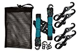 LYNX Hooks® Interlocking Adjustable Gear Strap Stash Bag Kit (Aqua Blue)