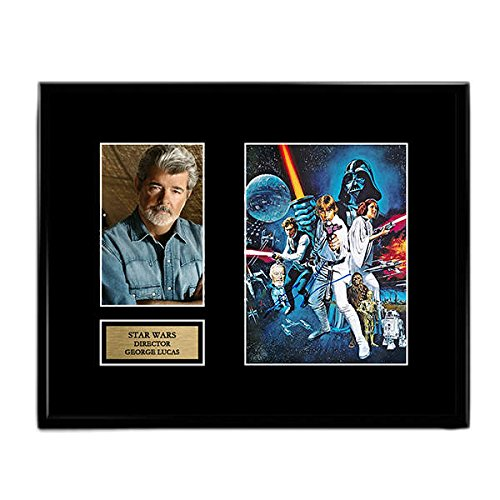 George Lucas Star Wars Signed Autographed Photo Mat Custom Framed 11 x 14 Replica Reprint Rp