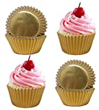 400 Gold Foil Cupcake Paper Baking Cups Metallic Muffin Liners Standard Size Cupcake Bakeware Supplies. Review