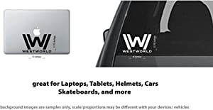 4x WESTWORLD logo symbol Vinyl Decal Sticker Laptop, Tablet, Truck Window #60466 - White