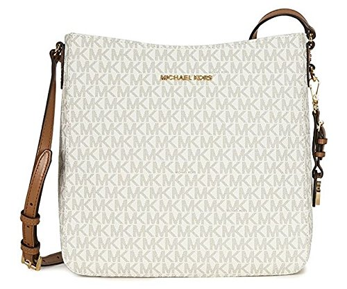 MICHAEL MICHAEL KORS Jet Set Travel Large Logo Messenger, Vanilla