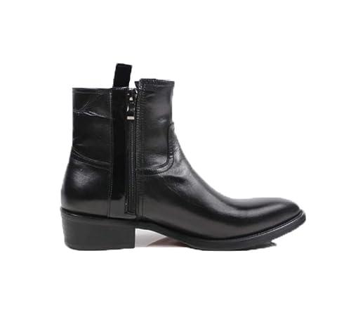 YCGCM Botines para Hombres Botas Altas Botas De Cuero Botas De Vaquero Zapatos De Hombre Británicos Puntiagudos: Amazon.es: Zapatos y complementos