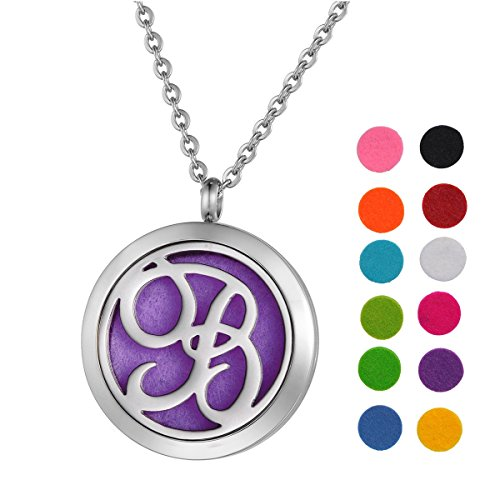 Stainless Steel Aromatherapy Essential Oil Diffuser Necklace with