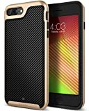 Caseology Envoy for iPhone 8 Plus Case (2017) / iPhone 7 Plus Case (2016) - Premium Leather - Carbon Fiber Black