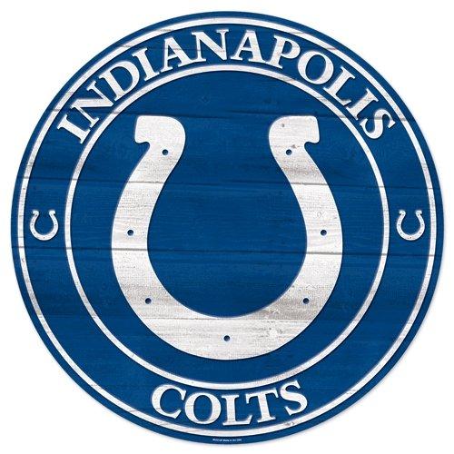 """Team Effort NFL Indianapolis Colts NFL Indianapolis Colts Wood Sign 19.75"""" NFL Indianapolis Colts Wood Sign 19.75"""", Multicolor, NA"""