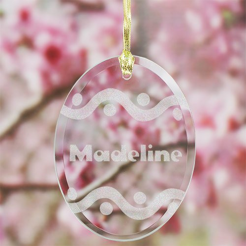 Suncatcher Personalized - Personalized Easter Egg Suncatcher, Glass, 3.75