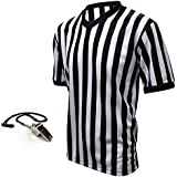 Winners Sportswear Official V-Neck Referee Jersey & Whistle Package