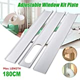 Aozzy Portable Air Conditioner Plastic Window Kit Vent Kit for Sliding Glass Window (13CM(5.0') Hose, Adjustable Length between135cm-180cm Portable AC Replacement Window Slide Kit Plate Panel