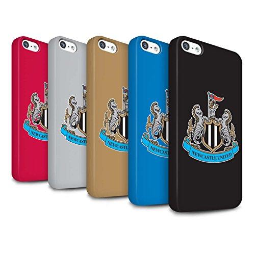 Offiziell Newcastle United FC Hülle / Matte Snap-On Case für Apple iPhone SE / Pack 12pcs Muster / NUFC Fußball Crest Kollektion