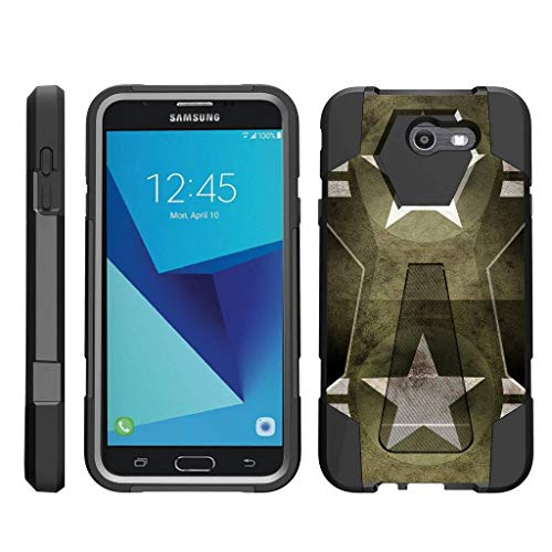 - TurtleArmor | Compatible for Samsung Galaxy J7 2017 Case | J7 Prime | J7 Sky Pro [Dynamic Shell] Impact Hard Kickstand Hybrid Shock Silicone Cover Robot Military Army Design - Military Stars