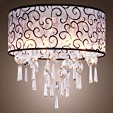 LightInTheBox Elegant Crystal Chandelier with 4 Lights, Modern Home Ceiling Light Fixture Flush Mount, Pendant Light Chandeliers Lighting