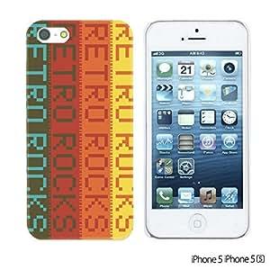LJF phone case OnlineBestDigital - Typography Pattern Hard Back Case for Apple iPhone 5S / Apple iPhone 5 - Retro Rocks