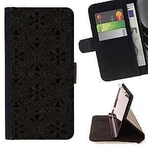 - CARVING LACE INTERIOR DESIGN ART PATTERN ORIENTAL - - Prima caja de la PU billetera de cuero con ranuras para tarjetas, efectivo desmontable correa para l Funny HouseFOR Apple Iphone 5C