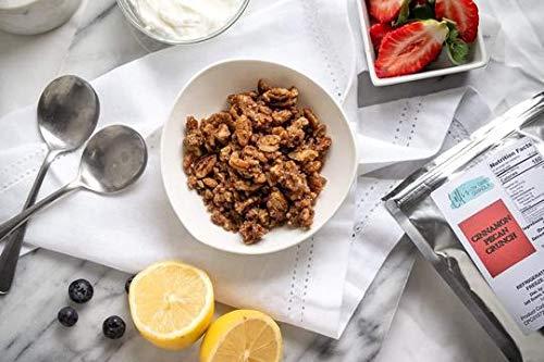 Cinnamon Crunch Granola - Lolli's Low Carb Granola, Keto Friendly, Low Glycemic, Gluten Free, Grain Free - 8 Oz (Cinnamon Pecan Crunch)