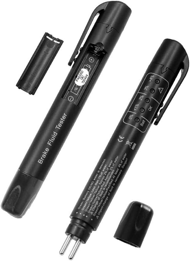 Carrfan Brake Fluid Tester Auto Brake Fluid Test FluidsAuto Auto Auto Tester Pen Tester Pen 5 LED Car Diagnostic Tool