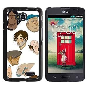 TopCaseStore / la caja del caucho duro de la cubierta de protección de la piel - Artist Cgi Painting - LG Optimus L70 / LS620 / D325 / MS323