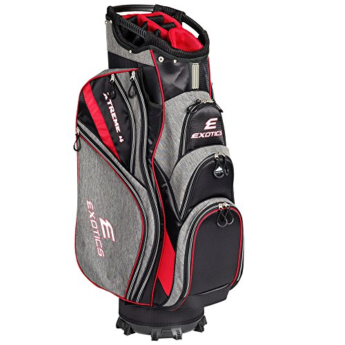 Tour Edge Exotics Extreme 4 Cart Bag 2018 Gray Scratch Plaid/Red by Tour Edge