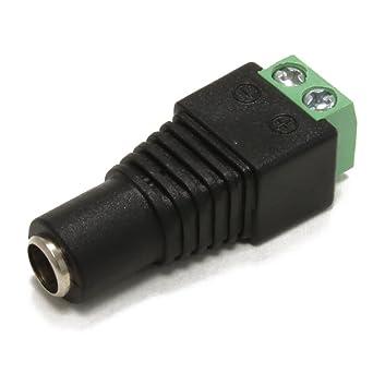LED Anschlussadapter DC-Stecker//Buchse Schraubklemme