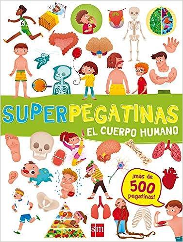 Cuaderno de actividades de verano. Superpegatinas cuerpo humano