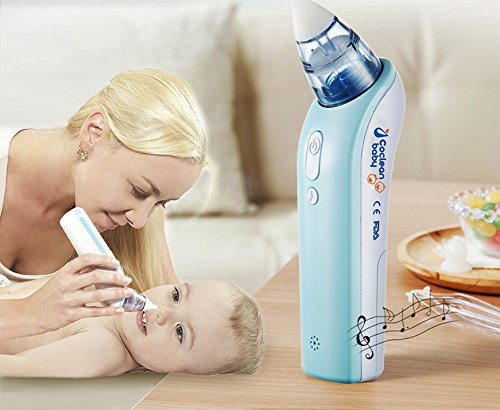 CoClean-Duck Electronic Vacuum Suction Nasal Aspirator - Safe, Fast, Hygienic Baby Snot Sucker - Simple and Easy to use Battery Operated Nose Cleaner