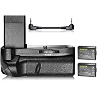Neewer Vertical Battery Grip and 2-Pack 1020mAh LP-E10 Li-ion Replacement Battery Kit for Canon EOS 1100D / 1200D / 1300D / Rebel T3 / T5 / T6