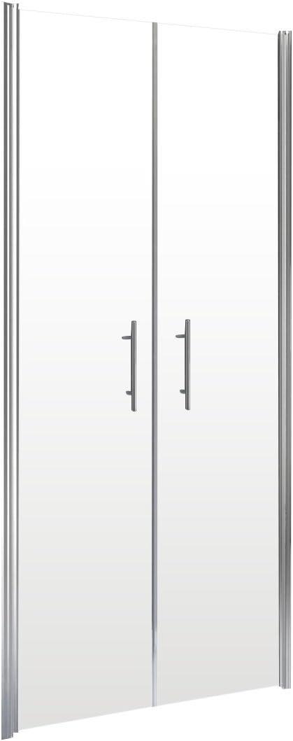 Schulte 4060991018534 Porte de douche battante en niche verre transparent montage r/éversible et sans silicone 80 x 192 cm profil/é aspect chrom/é