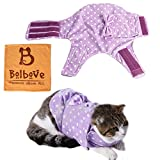 Pet Adjustable Anti-Anxiety Wrap & Calming Coat for Small Dogs & Cats Stress Fear Relief Training Winter Wear (Purple, Medium)