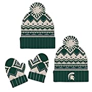 Top of the World Knitted Michigan State University Toddler Beanie and Glove Set
