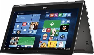 Newest Dell Inspiron 7000 Series 2-in-1 Backlit Keyboard 15.6 inch Touchscreen Full HD Flagship High Performance Laptop, Intel Core i7-7500U, 16GB RAM, 512GB SSD, MaxxAudio, WIFI, Windows 10 (Gray)