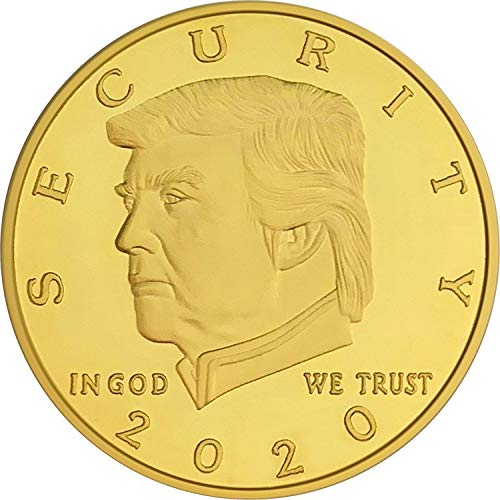 Donald Trump Border Wall Security 2020 Coin - 24K Gold Plated Commemorative Collectors Edition. Stunning Proof Coin in Acrylic Capsule and Velvet Bag. Trump Build The Wall Challenge Coin -