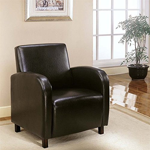 Unique Sleek Inspired Style Dark Brown Leather-Look Chair Ho