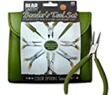 BEADSMITH 8 FASHION- OLIVE COLOR TOOL SET FOR MAKING JEWELRY with COORDINATED CLUTCH CARRY CASE