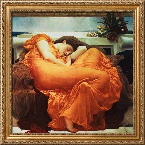 ArtEdge Flaming June Framed Giclee Print by Frederick Leighton, 24x24 - Flaming June Framed Print