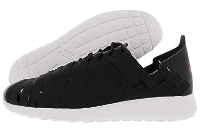 cheap for discount 05530 2e2fd NIKE Rosherun Woven Men Shoes Black White Fuchsia Force 555602-002 (SIZE