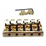 Fastmusic Gold 5-String Bass Bridge Extremely Thick and Heavy Top Load Upgrade