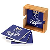 MLB Kansas City Royals MLB-Kcr-2403Square Coaster Set, Multi, One Size