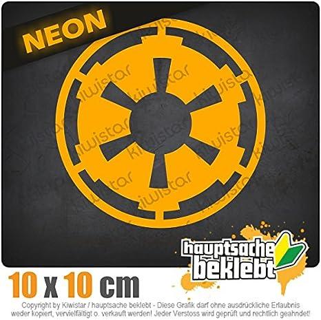 imperium 11 x 11 cm IN 15 FARBEN Chrom Sticker Aufkleber Neon