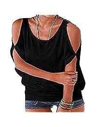 Imixshopcs Womens Vogue Cold Shoulder Batwing T-Shirt Tops Loose Blouse Tunic Tanktop