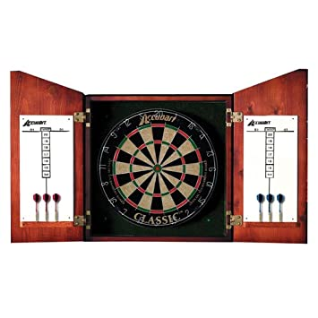 Amazon.com : Accudart Union Jack Dartboard Cabinet and Set : Dart ...
