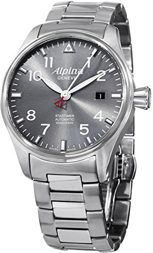 Alpina Startimer Pilot Sunstar Men's Stainless Steel Automatic Swiss Made Watch AL-525G3S6B