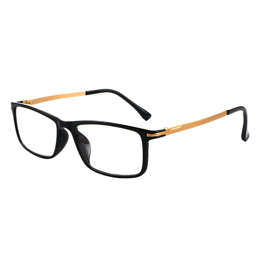Zhhlaixing Black Frame Spring-hinged Temples Eyewear Anti-fatigue Readers Reading Glasses for Men and Women