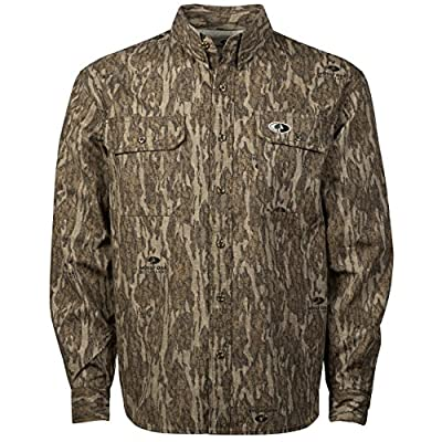 Mossy Oak Men's Tibbee Lightweight Hunting Shirt in Multiple Camo Patterns