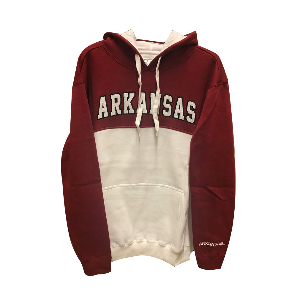 NCAA Colorblock Hoodie Arkansas X-Large Crimson