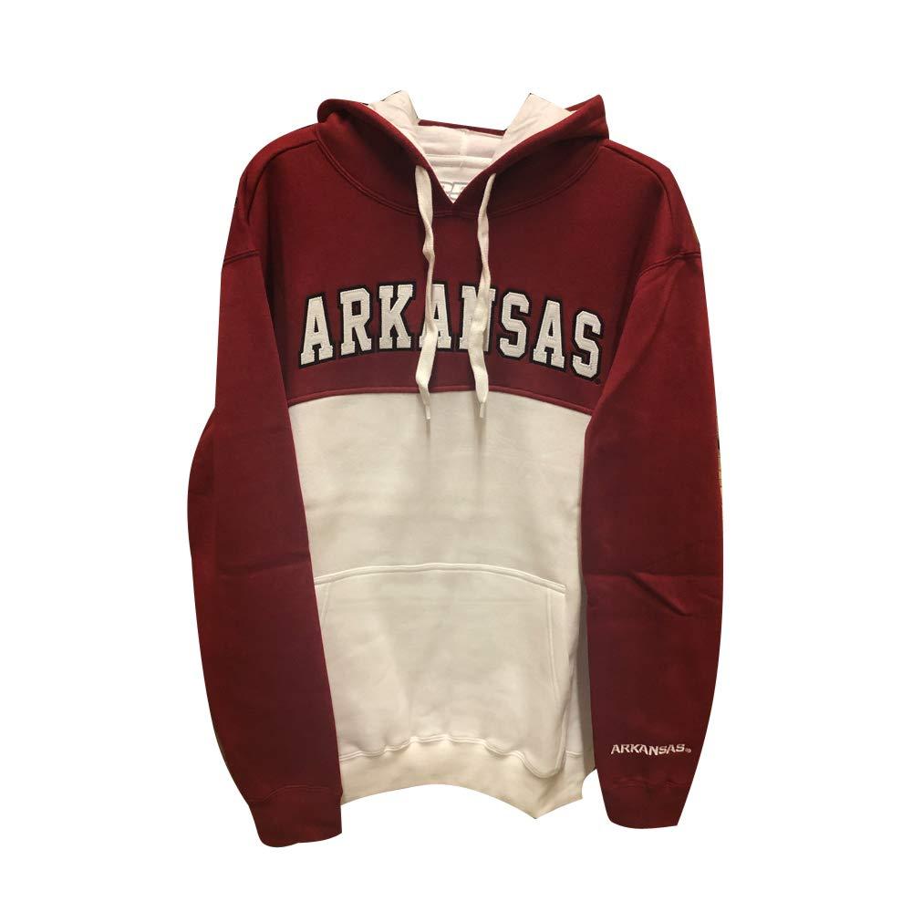 XX-Large Crimson NCAA Colorblock Hoodie Arkansas