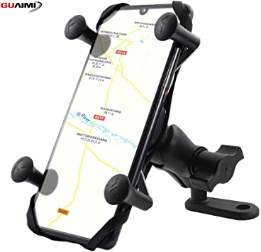 Motorcycle Phone Mount Scooter GUAIMI Phone Holder for Motorcycle Universal Cell Phone Holder Mirror Mount with USB Quick Charger