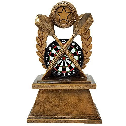 Darts Trophy | Colored Dart Board Award | 7 Inch Tall - Customize Now - Decade Awards ()