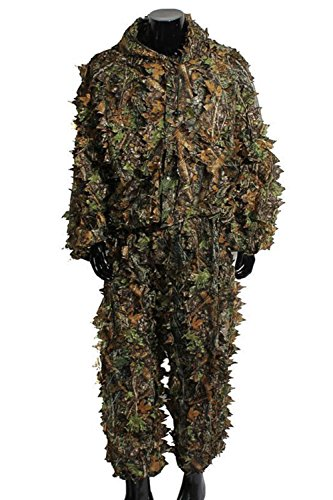 Ghillie Suit Camouflage Halloween Costumes Woodland Camo 3D Leaf Hunting Cosplay Costume  sc 1 st  Decoration Halloween & Ghillie Suit Camouflage Halloween Costumes Woodland Camo 3D Leaf ...