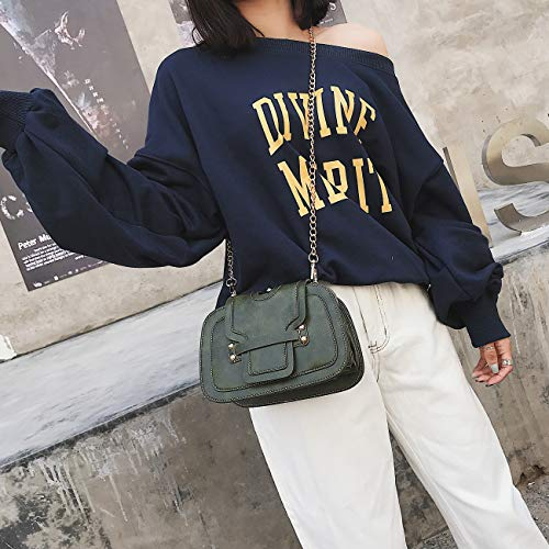 Mishuo Mano Joven Clutch Moda Cuero Otoño Verde Fiesta Bolso Invierno Casual Bandolera Boda Bolsos Pequeños Mujer De Vestir rHn7YwrzqO